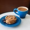 コーヒーとクッキーの画像